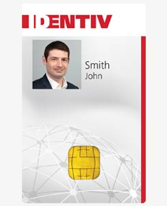 Identiv SmartID 80K Smart Card with 125 kHz Proximity